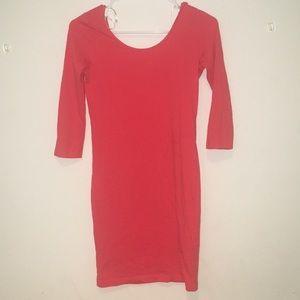 Off-the shoulder Dress (orange)
